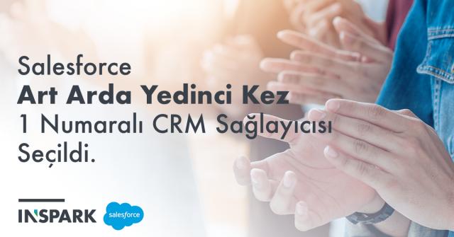 Salesforce Art Arda Yedinci Kez 1 Numaralı CRM Sağlayıcısı Seçildi